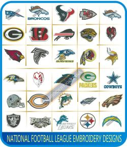 NFL Teams Logos Embroidery Designs