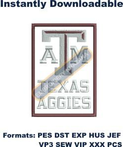 1492070263_Embroidery designs Texas A&M Aggies Logo.jpg