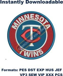 minnesota twins tc baseball embroidery design