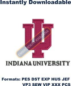 IU Indiana University logo embroidery design