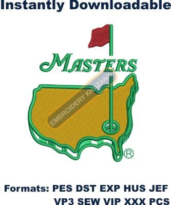 The Masters Golf Logo Embroidery Design