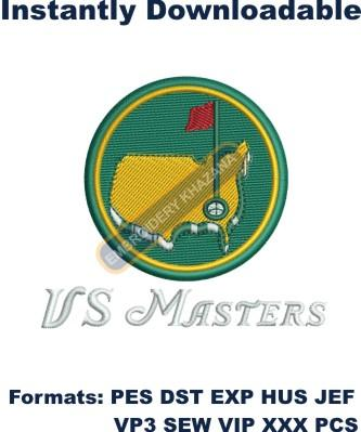 US Masters golf embroidery design