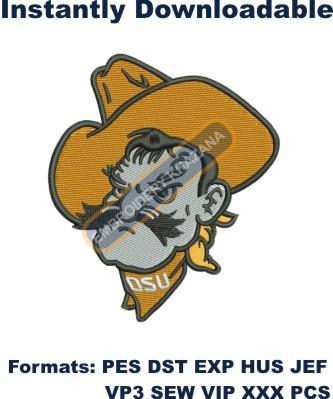 Oklahoma State Cowboys Embroidery design