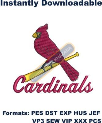 st louis cardinals baseball Embroidery design
