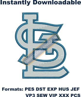 St Louis Cardinals Stl Logo Embroidery Design