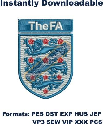 The Football Association logo embroidery design