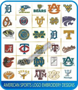 American Sports Logos Embroidery Designs