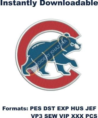 MLB Chicago Cubs Logo embroidery design