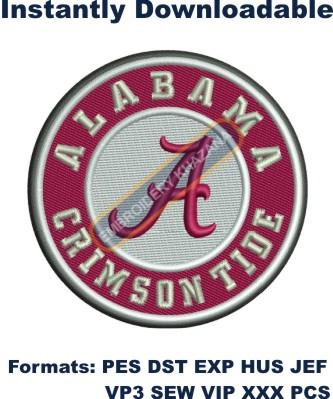 university of alabama crimson tide embroidery design