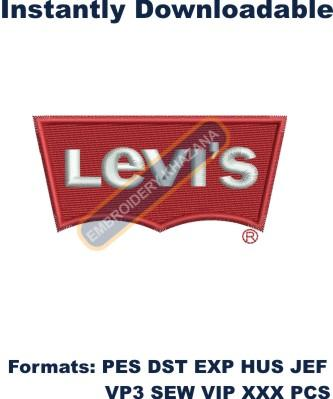 levis logo embroidery design