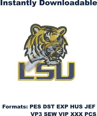 LSU TIGERS LOUISIANA embroidery design