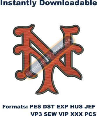 new york giants embroidery design