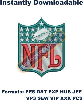 Nfl logo embroidery design