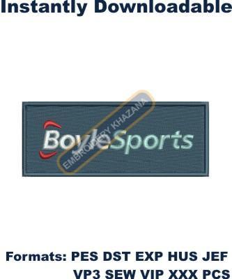Boylesports Logo Embroidery Designs