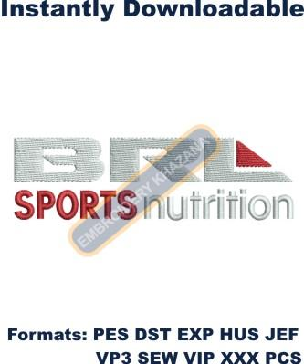 BRL Sports Nutrition Logo Embroidery Designs