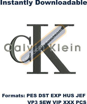 Calvin Klein Logo Embroidery Designs