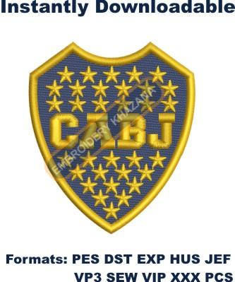 Boca Juniors Logo Embroidery Designs