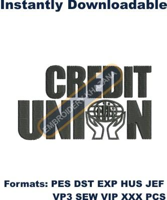 Credit union embroidery design