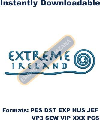 extreme ireland logo embroidery designs