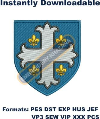 Family crest embroidery design
