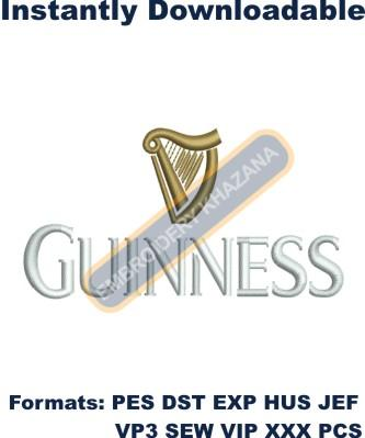 Guinness Logo Embroidery Designs