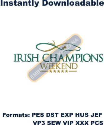 irish champion weekend embroidery designs