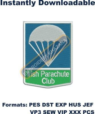 irish parachute club embroidery designs