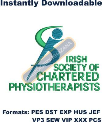 irish society of chartered physiotherapists embroidery
