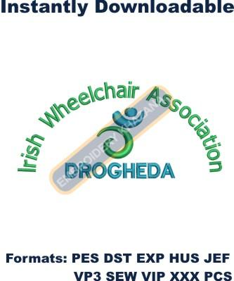 irish Wheelchair Association embroidery designs