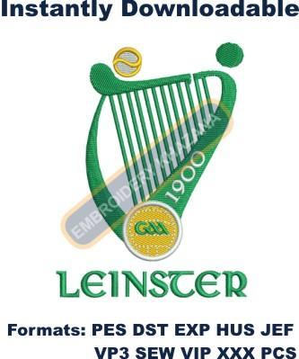 leinster gaa logo embroidery designs