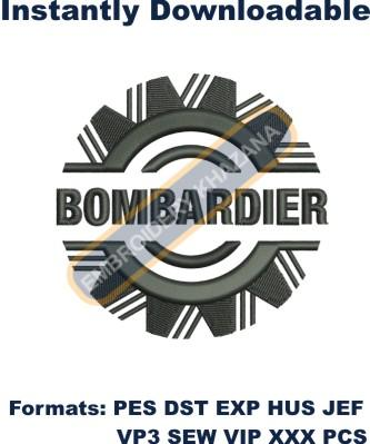 Bombardier Aerospace logo embroidery design
