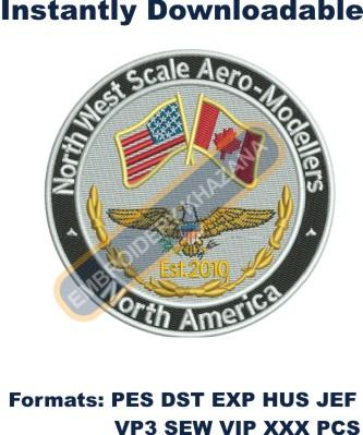 NorthWest Scale Aero Modellers embroidery design