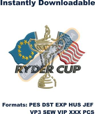 Ryder Cup Logo Embroidery Designs
