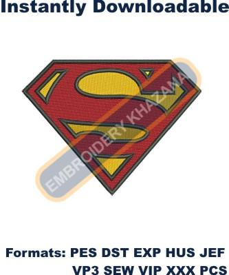 Superman logo embroidery design