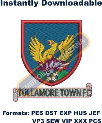 Tullamore town fc embroidery design