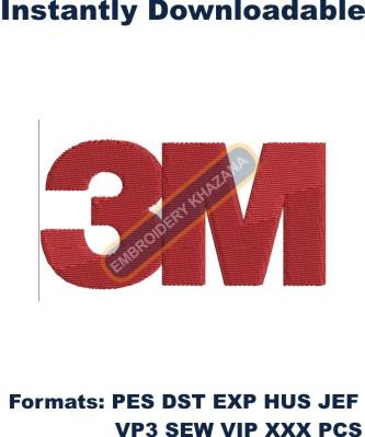 3M Logo Embroidery design