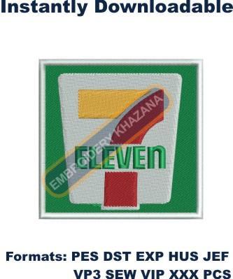 7 Eleven Logo Embroidery Designs