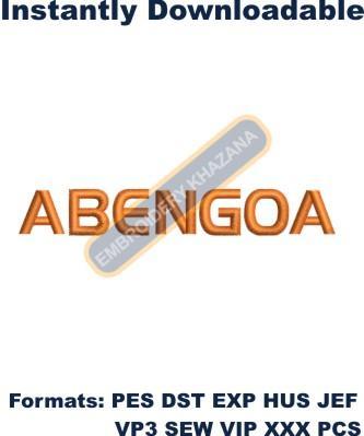 Abengoa Logo Embroidery Designs