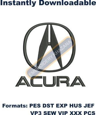 ACURA LOGO EMBROIDERY DESIGN