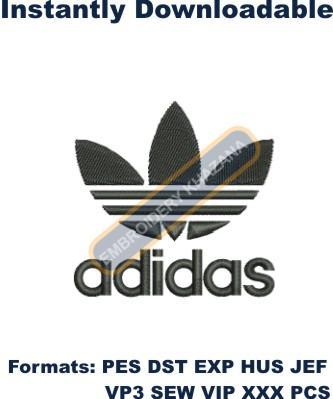 Adidas Branded Logo Embroidery Design