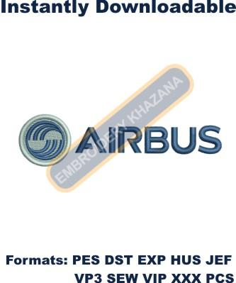 Airbus Logo Embroidery Designs