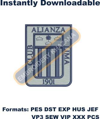 Alianza Lima Logo Embroidery Designs