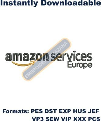 Amazon Services Europe Logo Embroidery Designs
