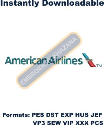 American Airlines Embroidery design