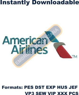 American Airlines Logo Embroidery Designs