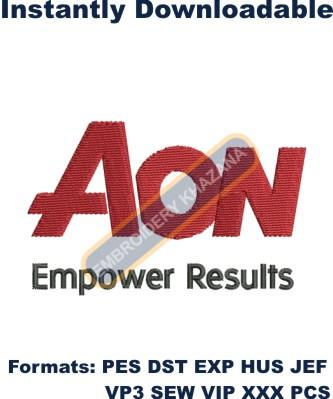 Aon Logo Embroidery Designs