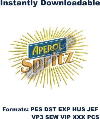 Aperol Spritz Logo Embroidery Designs
