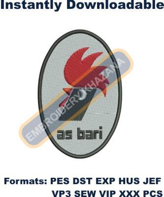 As Bari Logo Embroidery Design