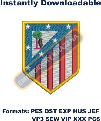 Atletico madrid logo embroidery design