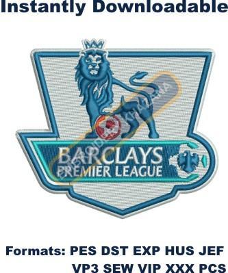 Barclays Premier League Logo Embroidery Designs